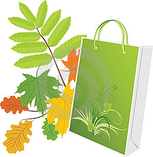 Package On The Leafy Background Stock Photos - Image: 14993823