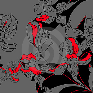 Floral Seamless Pattern Stock Image - Image: 14995591