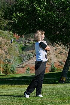 Female Golfer Royalty Free Stock Photos - Image: 14996328