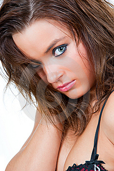 Portrait Of A Girl With Beautiful Eyes. Stock Photos - Image: 14998623