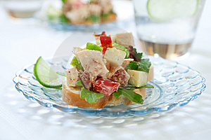 Spicy Chicken Salad Sandwich Royalty Free Stock Photography - Image: 14998767