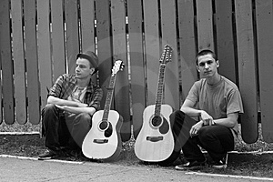 Rock Band B/w Royalty Free Stock Photo - Image: 14998945