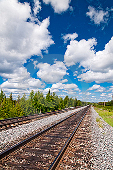 Railway Tracks Stock Images - Image: 14999034