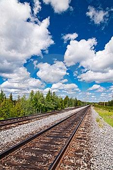 Railway Tracks Stock Images - Image: 14999034