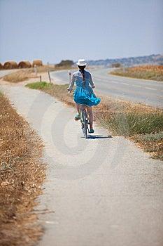Beautiful Girl Riding Bicycle Stock Photos - Image: 14999423