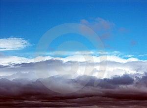 Burz chmury Zdjęcie Royalty Free
