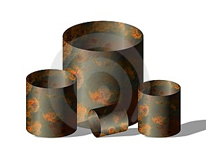 Rusty barrels Royalty Free Stock Images