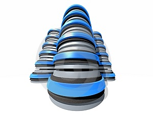 Gruop Of 3d Server Towers Stock Photos