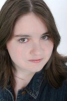 Beautiful Thirteen Year Old Girl Close Up Free Stock Photo