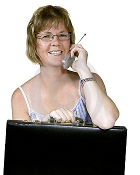 Zufällige Geschäftsfrau Lizenzfreie Stockfotografie
