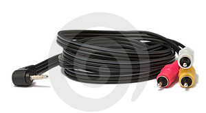 Audio-video Cable Free Stock Image