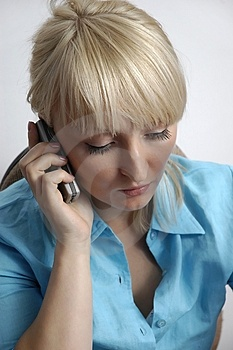 Woman Talking By Phone Free Stock Photos