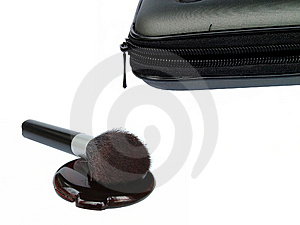 Makeup Bag And Compact Free Stock Image