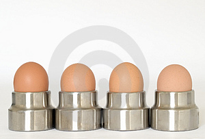 Eggs In Egg Cups Free Stock Photos