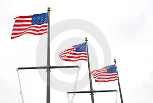 Three Flags Free Stock Image
