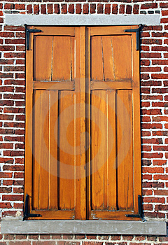 Shutters closed Stock Photo