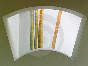Finestra di bambù Immagini Stock