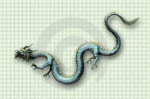 Dragon oriental sur le fond d'armure Image libre de droits