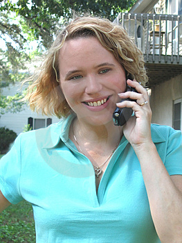 Woman On The Phone Stock Image