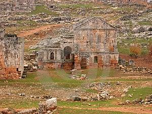 Dead City Of Serjilla, Syria Stock Photo