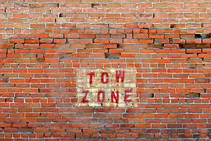 Tow Zone Warning Stock Image