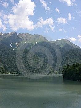 Mountain Lake Ritsa, Abkhazia Stock Photos