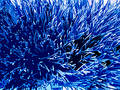 Blue toned spiky background Stock Photos