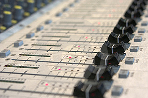 Mixing console Royalty Free Stock Image