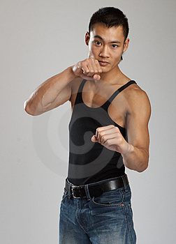 Tough Asian Guy Royalty Free Stock Photos - Image: 1504238