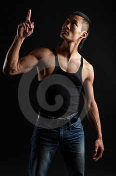 Tough Asian Guy Royalty Free Stock Image - Image: 1504346