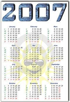 Calendario Fotos de archivo libres de regalías - Imagen: 1508678