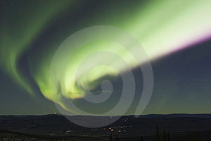 Colorful arc of northern lights Royalty Free Stock Photo