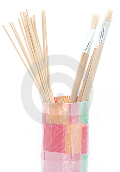 Brushes And Skewers Royalty Free Stock Images - Image: 15002289
