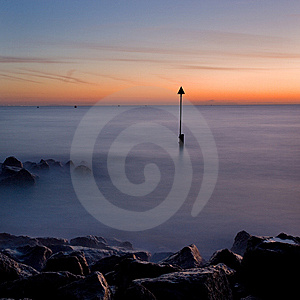 Sunrise At Sandbanks, Dorset, UK Royalty Free Stock Images - Image: 15002869