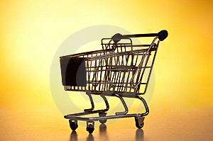 Isolated Shopping Trolley Royalty Free Stock Photo - Image: 15005345