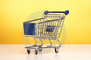 Isolated Shopping Trolley Royalty Free Stock Image - Image: 15005386