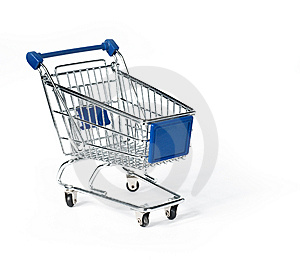 Isolated Shopping Trolley Royalty Free Stock Image - Image: 15005676
