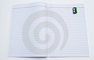 Book And Pencil Sharpener Stock Photos - Image: 15005923
