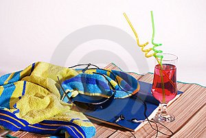 Beach Essentials Stock Images - Image: 15006604