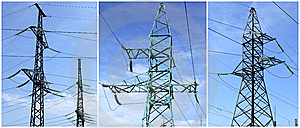 High-tension Power Line Stock Image - Image: 15008991