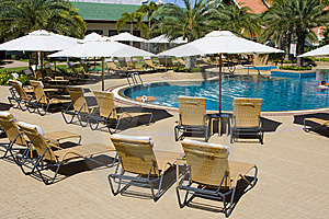 Poolside Area Stock Images - Image: 15010154