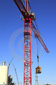Heavy Duty Cranes On Worksites. Stock Images - Image: 15010474
