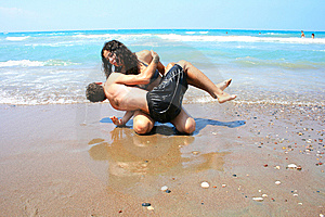 Teens On The Beach Royalty Free Stock Photo - Image: 15010815