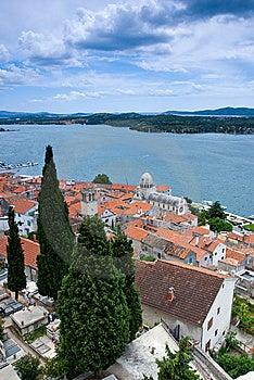 Mediterranean Town Sibenik, Croatia Stock Photo - Image: 15011150