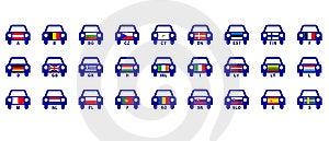 European Countries Auto Indicatives Royalty Free Stock Photo - Image: 15011555