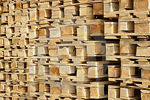 Wooden Euro Pallets Royalty Free Stock Photos - Image: 15011608