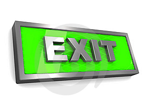 Exit Sign Stock Photo - Image: 15011690