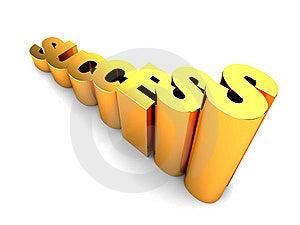 Rasing Success Text Stock Image - Image: 15011691