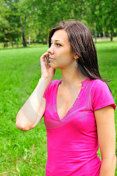 Girl With A Phone Royalty Free Stock Photo - Image: 15011965