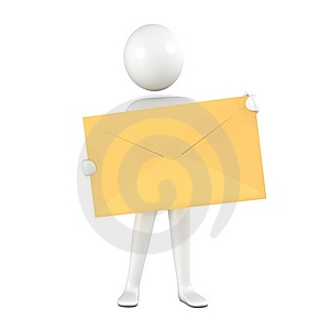Person With Yellow Envelope. Royalty Free Stock Photo - Image: 15011995